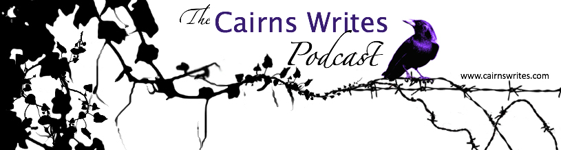podcast banner crow with barbed wire